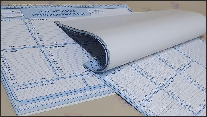 Настольный планинг еженедельник собранный на пружину Фото 1