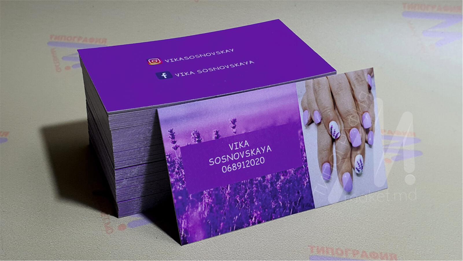 фиолетовые визитки лавандовые фото 17