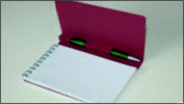 блокнот с пружиной и с вырубкой под ручку - фото1