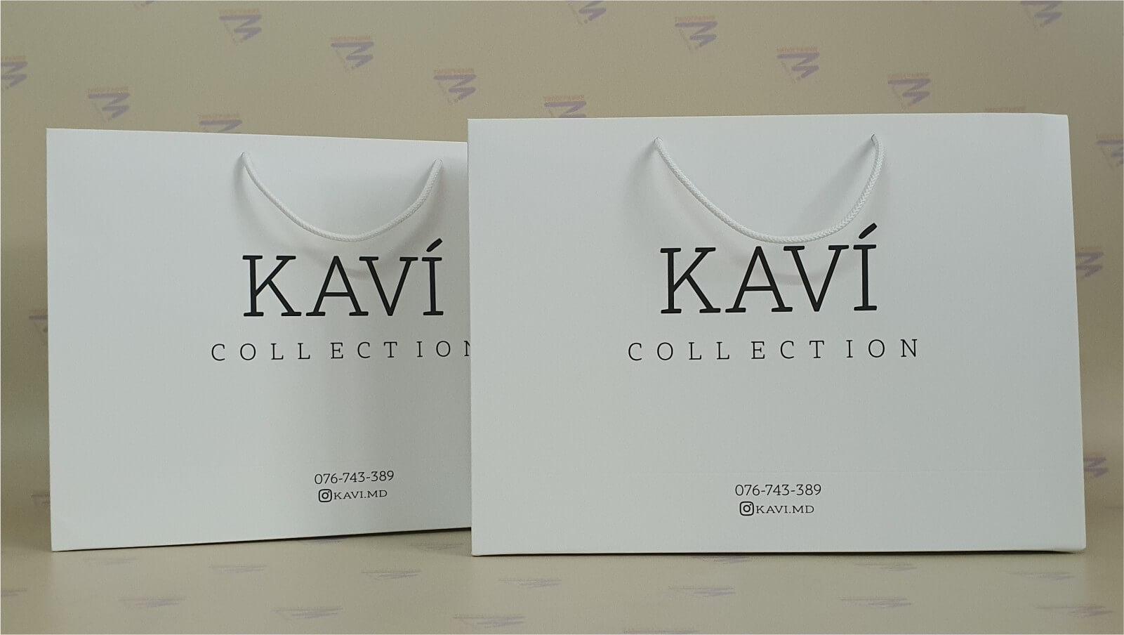 белый пакет картонный со шнурками чёрный лого печать матовая ламинация