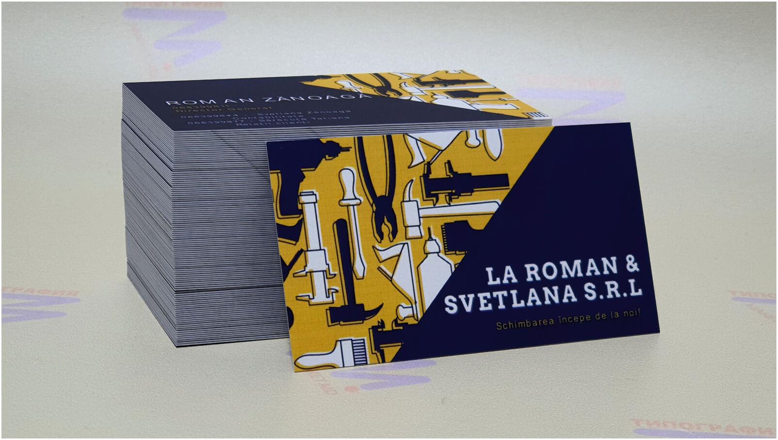 печать и производство визиток синий желтый дизайн фото 18