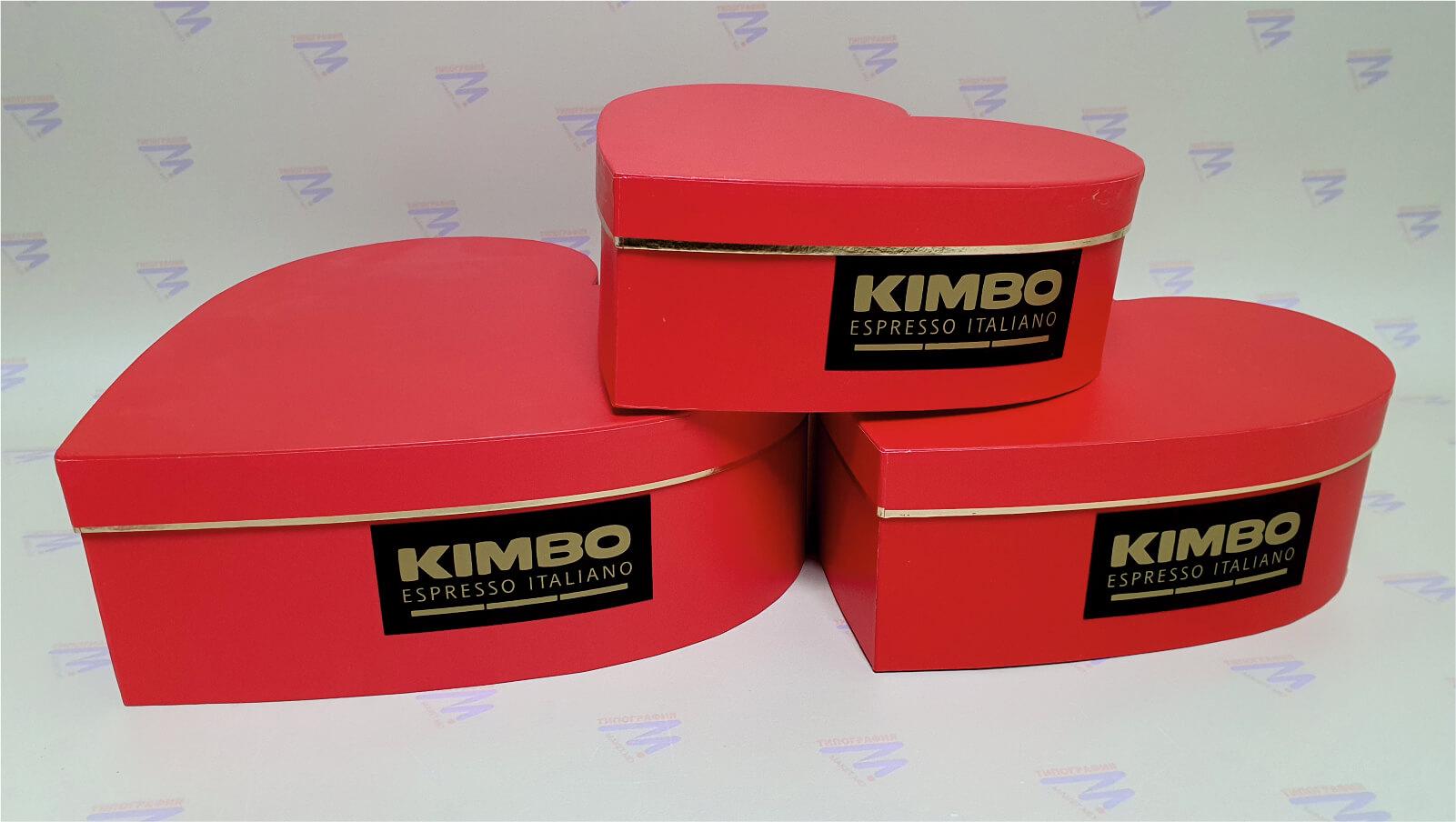 красные коробки в виде сердца печать шелкографией фото 2