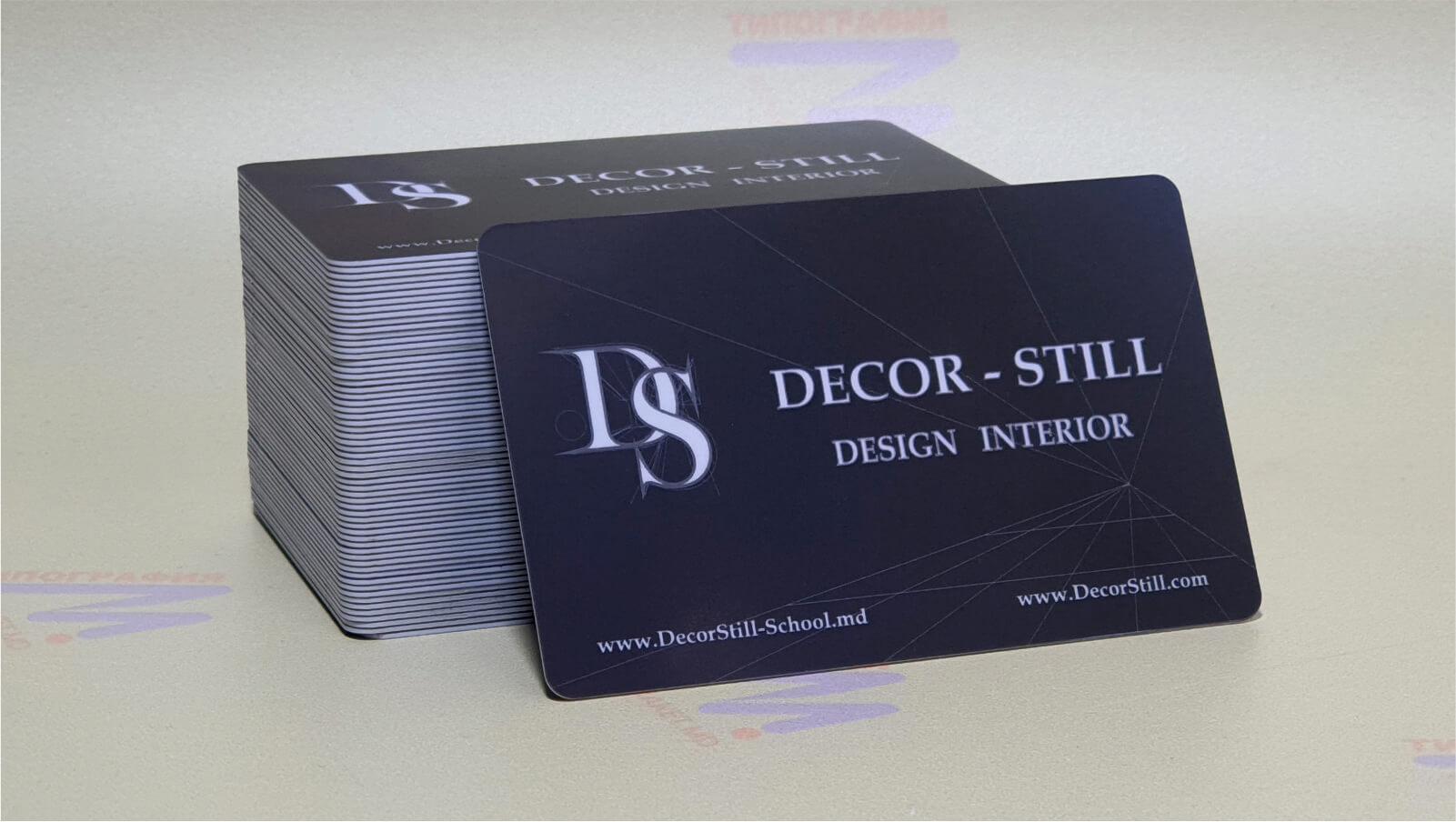 визитки на пластике чёрные фото 2