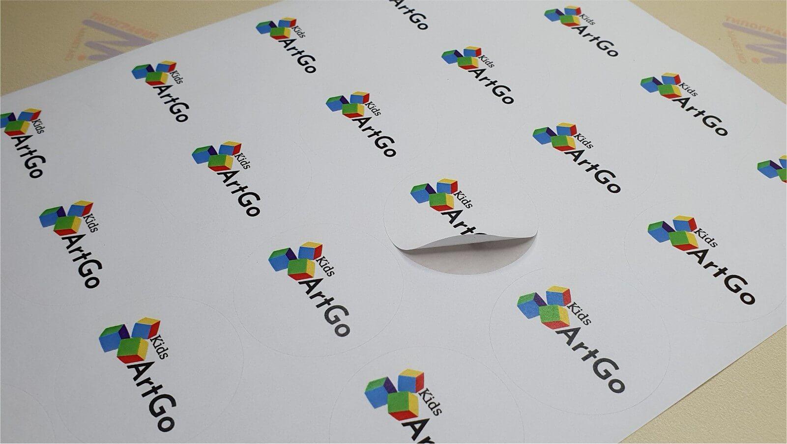 Круглый стикер печать в Кишинёве фото 10