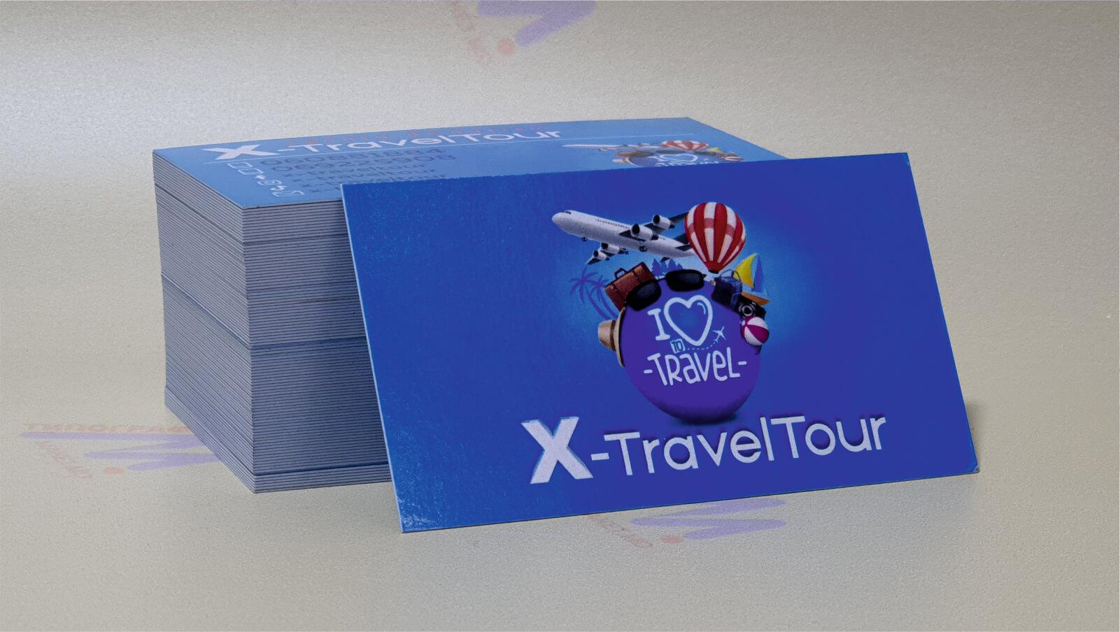 визитки для туристической фирмы синие фото 20