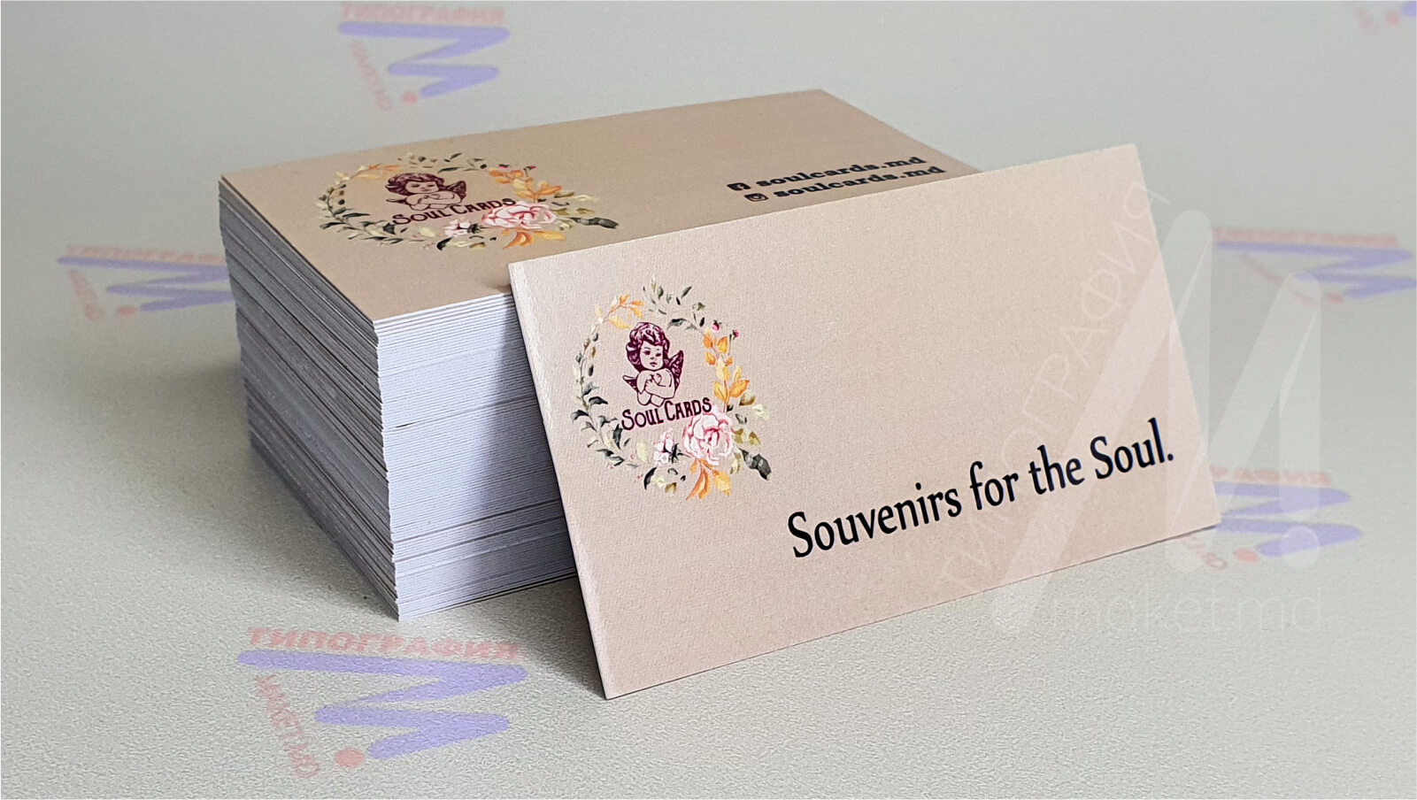 бежевые визитки печать и дизайн фото 16