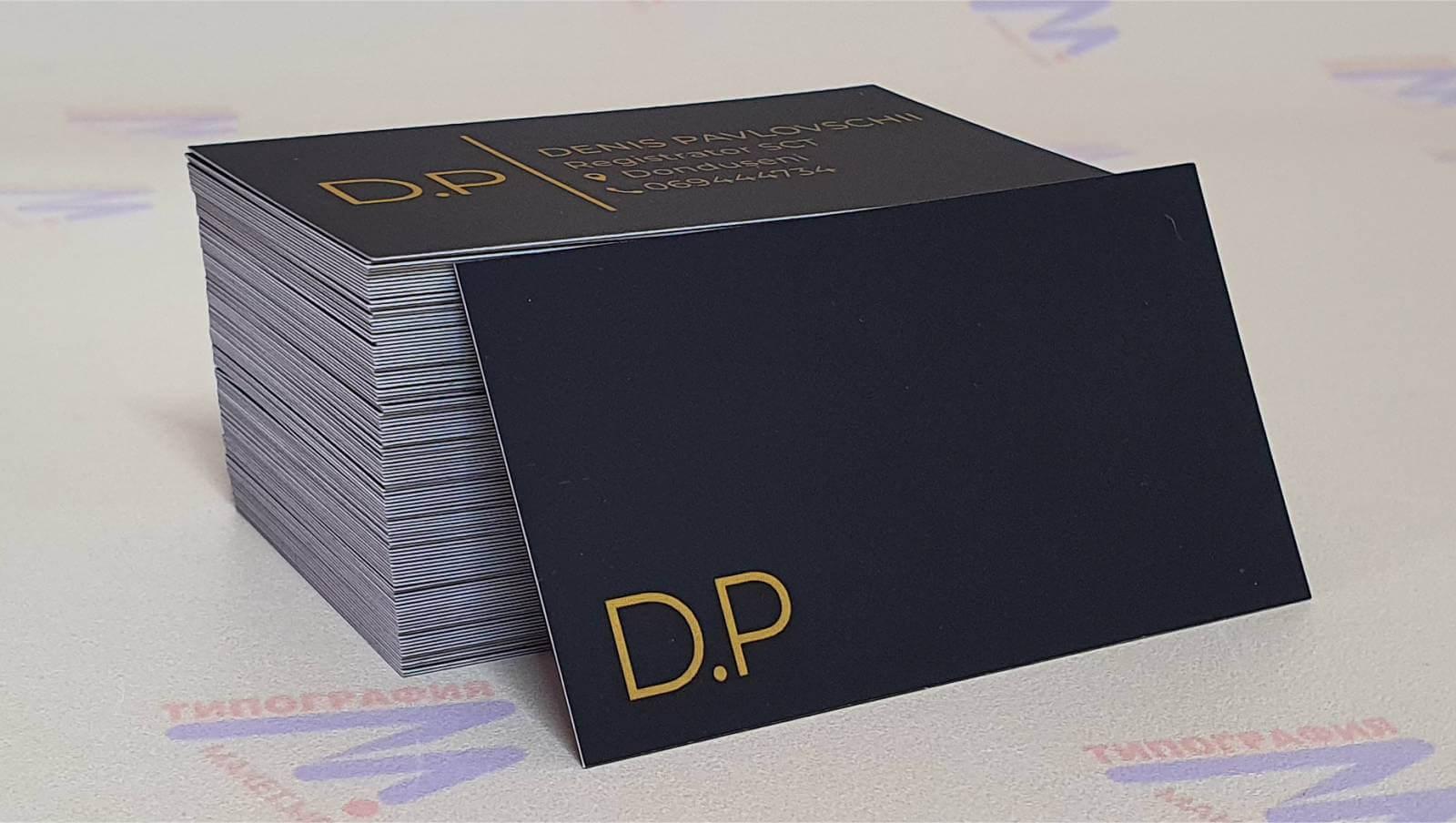Визитки черная визитка черный дизайн фото3